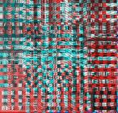 Usterki psychodeliczny tło Stary TV ekranu błąd Cyfrowego piksla hałasu abstrakcjonistyczny projekt Fotografii usterka Telewizja  Zdjęcie Stock