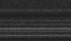Usterki tekstury piksla hałas Próbny TV ekranu Cyfrowego VHS tło Błędu komputeru wideo Abstrakcjonistyczna czerni szkoda ilustracji