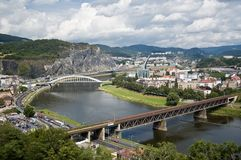 Usti nad Labem Czech Republic. Scenic overlook of the city of Usti nad Labem, Czech Republic stock photo