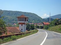 Ustikolina en by i östlig Bosnien royaltyfri foto