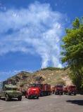 Ustione controllata in Las Cumbres fotografia stock libera da diritti