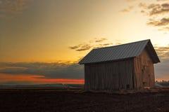 Ustione controllata nel tramonto fotografia stock libera da diritti