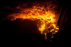Ustione del fuoco Immagini Stock Libere da Diritti