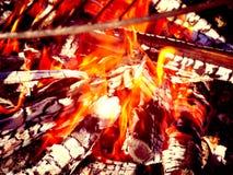 Ustione della fiamma dell'ustione Immagini Stock Libere da Diritti
