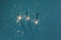 Ustione delle stelle filante Fotografie Stock Libere da Diritti