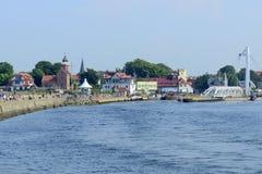 Ustka harbor. Royalty Free Stock Photography