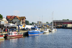 Ustka harbor. Stock Photography