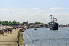 Ustka harbor. Royalty Free Stock Photos