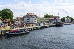 Ustka harbor. Stock Photo