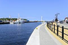 Ustka harbor. Stock Images