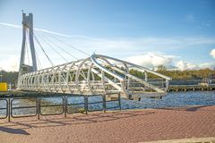 Free Ustka, Modern Swinging Bridge Over The Port Royalty Free Stock Photography - 107507217
