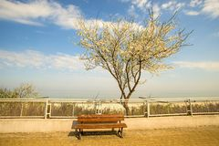 Ustka, Poland with beach promenade Royalty Free Stock Images