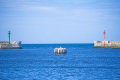 Ustka, Poland entrance of seaport Royalty Free Stock Photos