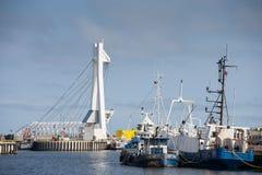 Ustka port view Stock Image