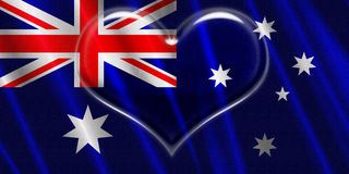Ustralia Crystal Heart Royalty Free Stock Photos