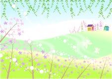 ustronna wioska ilustracja wektor