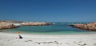 Ustronna zatoka blisko Paternoster, Południowa Afryka Obraz Stock
