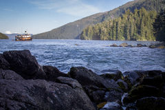 Ustronna zatoka Południowo-wschodni Alaska Chatham cieśnina daleko Obraz Royalty Free
