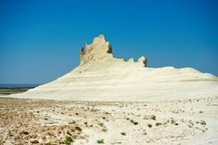 On the Ustyurt Plateau. Uplands of the Ustyurt plateau. Desert and plateau Ustyurt or Ustyurt plateau is located in the west of Central Asia, particulor in Royalty Free Stock Photography