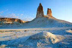 On the Ustyurt Plateau. Uplands of the Ustyurt plateau. Desert and plateau Ustyurt or Ustyurt plateau is located in the west of Central Asia, particulor in Stock Image