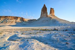 On the Ustyurt Plateau. Uplands of the Ustyurt plateau. Desert and plateau Ustyurt or Ustyurt plateau is located in the west of Central Asia, particulor in Stock Photography