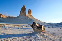 On the Ustyurt Plateau. Uplands of the Ustyurt plateau. Desert and plateau Ustyurt or Ustyurt plateau is located in the west of Central Asia, particulor in Royalty Free Stock Image
