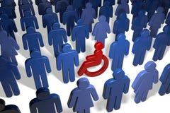 Usuário de cadeira de rodas incapacitado entre ilustração do vetor