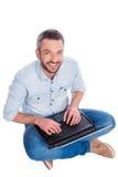 Usuário feliz Fotografia de Stock