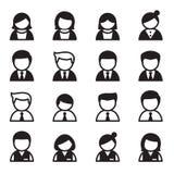 Usuário, homem, mulher, grupo do ícone do homem de negócios Fotos de Stock Royalty Free