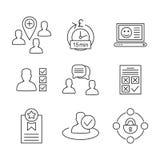 Usuário icon6 Imagens de Stock Royalty Free