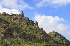 Usu昝山,在Toya湖,北海道,日本附近的活火山 库存图片
