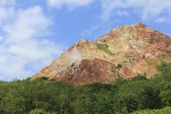 Usu -usu-zan berg, actieve vulkaan dichtbij Toya-meer, Hokkaido, Japan royalty-vrije stock fotografie