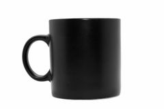 Usual  black office coffee mug Stock Photography