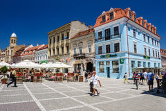 Usual day at Council Square, Brasov Stock Photography