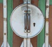 Usual gate lock stock image