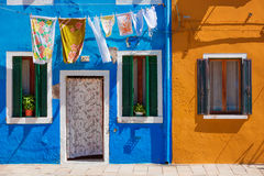 Usual life on Burano island, province of Venice Stock Image