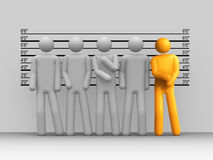 The Usual Suspects. 3d rendered image : The Usual Suspects Royalty Free Stock Photography