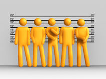 The Usual Suspects. 3D rendered image : The Usual Suspects Royalty Free Stock Images