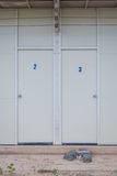 Usual two doors at the entrance Royalty Free Stock Images