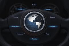 Usuario del automóvil con concepto del icono Imagenes de archivo