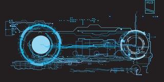 Usuario gráfico virtual futurista del tacto del concepto del interfaz de HUD Foto de archivo libre de regalías