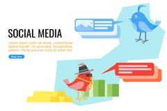 Usuarios de medios sociales ilustración del vector