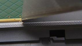 Usunięcie ochronny narzut od elektronicznej części komputer zbiory