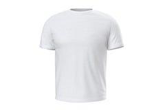 Usura bianca della maglietta, vista frontale royalty illustrazione gratis