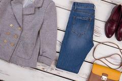 Usura, calzature ed accessorio del ` s delle donne Fotografie Stock Libere da Diritti