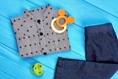 Usura ed accessori di modo del neonato Fotografia Stock Libera da Diritti