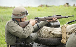 Usura rossa Ger militare storico del randello di storia della stella Fotografia Stock Libera da Diritti