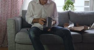Usuwać plastikowego filmu unboxing Apple TV zbiory wideo