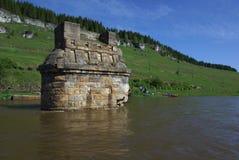 Usva flod i permanenten Krai Fotografering för Bildbyråer