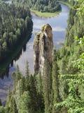 Usvinskie Poles. Rock Devil finger. Perm region. Russia. Royalty Free Stock Image